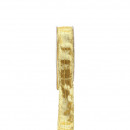 Brocade ribbon 25 mm / 25 m, with wire inlay, gold